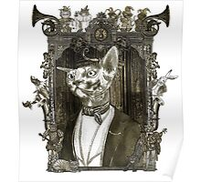 Mr. Sphinx with Frame Poster