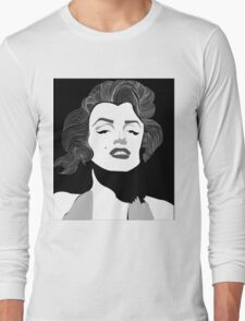 Marilyn Monroe Vector Long Sleeve T-Shirt
