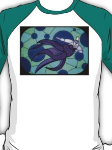 Sea Witch - stained glass villains T-Shirt