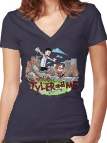 Tyler and Me Women's Fitted V-Neck T-Shirt