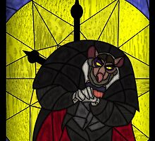 Steal the crown jewels - stained glass villains by UncleFrogface
