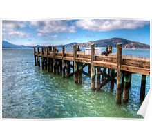 The Old Alcatraz Dock that laid upon the Blue Waters Poster