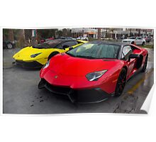 Lamborghini Aventador 50th Roadsters Hanging Out Poster