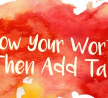 Know Your Worth Watercolor Sticker