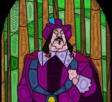 Kill the Natives - stained glass villains by UncleFrogface