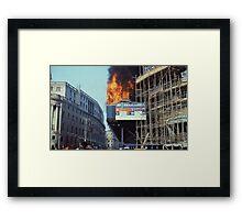 Poll Tax Riots, London 1990 Framed Print
