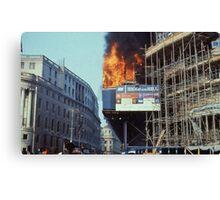 Poll Tax Riots, London 1990 Canvas Print