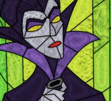 Evil fairy?! - stained glass villains Sticker