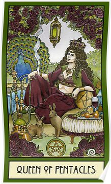 Queen of Pentacles, Card by WinonaCookie