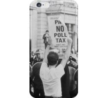 Poll Tax protestor, London iPhone Case/Skin