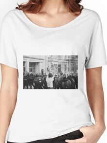 Poll Tax protestor, London Women's Relaxed Fit T-Shirt