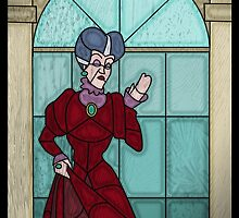 What a wicked stepmother - stained glass villains by UncleFrogface