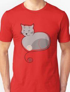 Whimsical Cat Vector Illustration T-Shirt