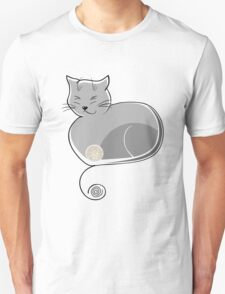 Whimsical Cat Vector Illustration T-Shirt