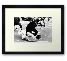Poll Tax Riots, London Framed Print