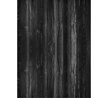 Black Wood Photographic Print