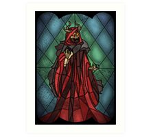 King of the undead - Stained Glass Villains Art Print