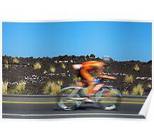 Going it alone - Kona Ironman Poster