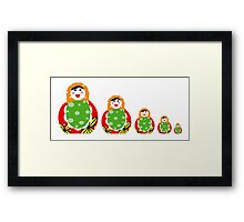 Cute Russian nesting dolls Framed Print