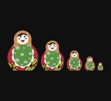 Cute Russian nesting dolls Kids Tee