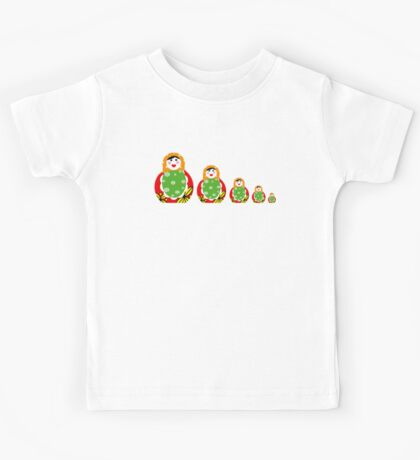 Cute Russian nesting dolls Kids Tee