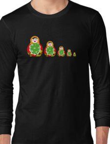 Cute Russian nesting dolls Long Sleeve T-Shirt