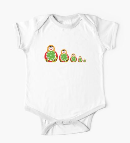 Cute Russian nesting dolls One Piece - Short Sleeve