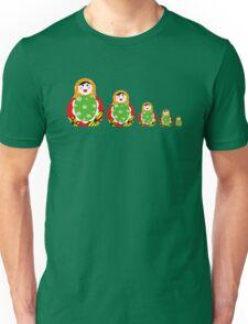 Cute Russian nesting dolls Unisex T-Shirt