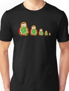 Cute Russian nesting dolls Unisex T-Shirt