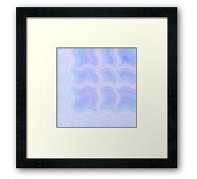 Pastel Cold Waves Framed Print