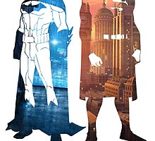 Batman & Superman Cityscape Decal by GekiDesign