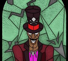 Voodoo Doctor - stained glass villains by UncleFrogface