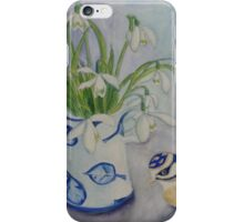 Jug of Snowdrops iPhone Case/Skin