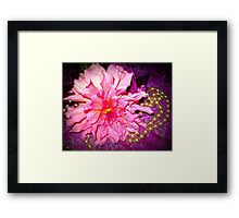 Dahlia - A Sweet flower with pearls Framed Print