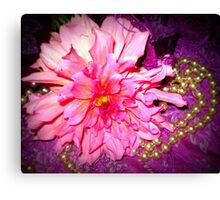 Dahlia - A Sweet flower with pearls Canvas Print