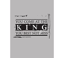 """You Come at the King, You Best Not Miss"" - The Wire (Dark) Photographic Print"