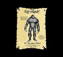 REWARD:  Do NOT shoot my Sasquatch! by Kricket-Kountry
