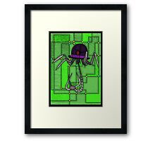 Robotic Bowler Hat - stained glass villains Framed Print