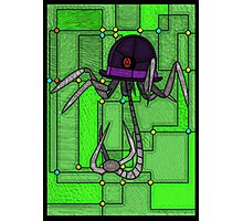 Robotic Bowler Hat - stained glass villains Photographic Print