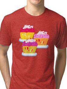 THREE MUFFINS  T SHIRT/STICKER/ART Tri-blend T-Shirt