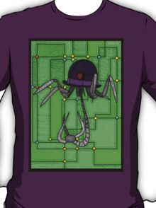 Robotic Bowler Hat - stained glass villains T-Shirt