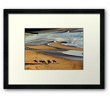 Saddle time Framed Print