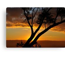 Blackheath Lookout NSW Australia - At the End of a Perfect Day Canvas Print