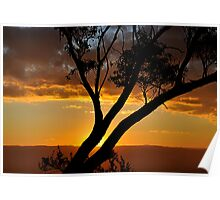 Blackheath Lookout NSW Australia - At the End of a Perfect Day Poster