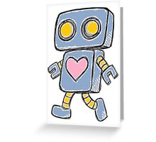Single Love Robot (Blue) Greeting Card