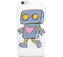 Single Love Robot (Blue) iPhone Case/Skin