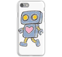Single Love Robot (Blue) iPhone Case/Skin