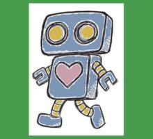 Single Love Robot (Blue) One Piece - Short Sleeve
