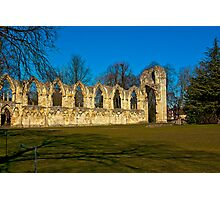 Ruins of St Mary's Abbey  -  York Photographic Print
