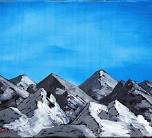 Acrylic mountains by UncleFrogface